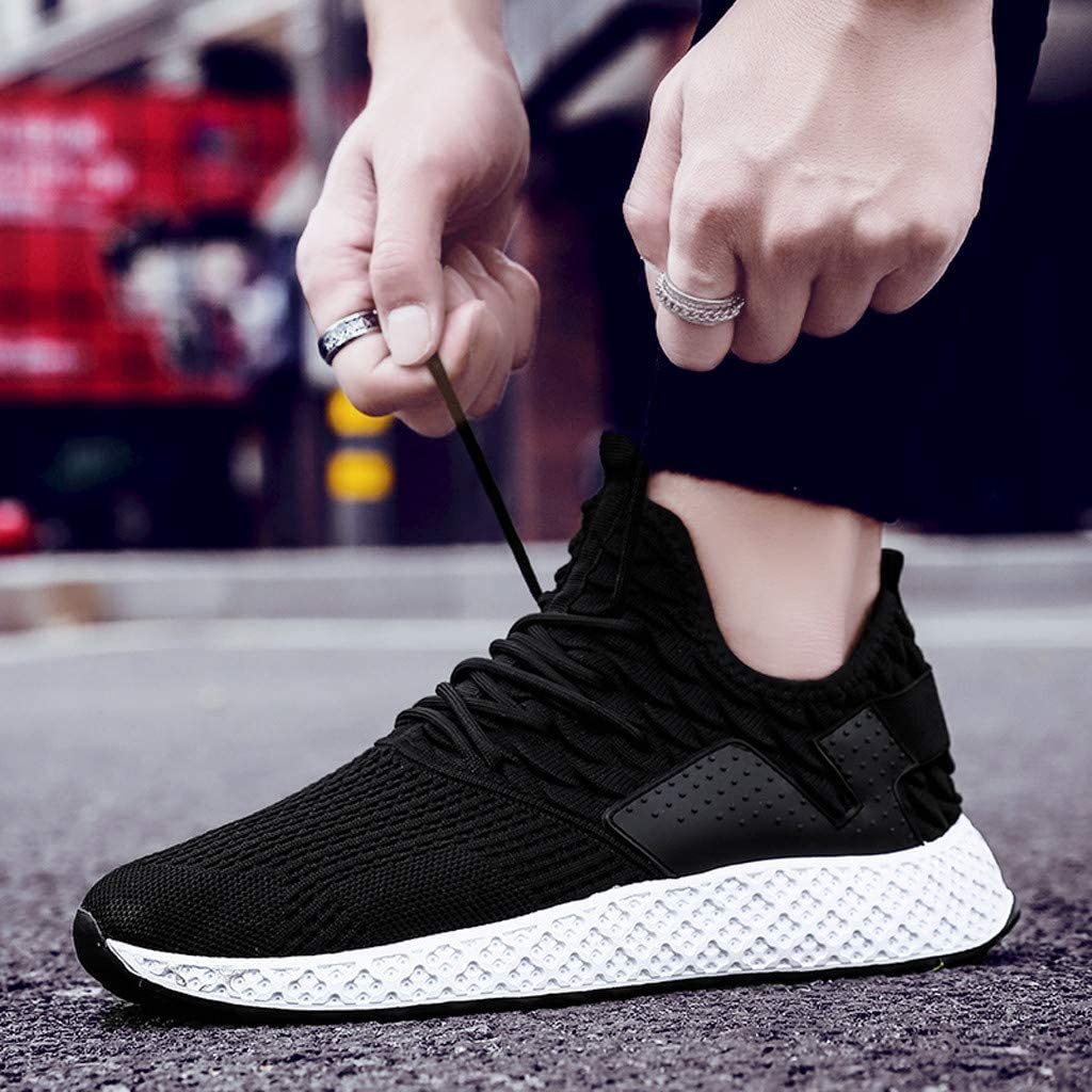 Huazi2 Mens Casual Outdoor Breathable Mesh Sneakers Comfortable Running Shoes