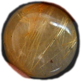 Cabujón dorado rutilo, piedra preciosa natural del rutillo, forma de pera 23x17.5x5.5mm, 21Ct K-02898