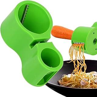NNMNBV Rallador Doble Espiral Cortador de Verduras Cuchillo afilador Espaguetis Cuchillo Premium Cortador de Fideos afilador Herramientas prácticas