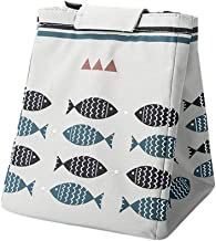 Fan-Ling Cartoon Printed Lunch Bag,Insulated Thermal Cool Bags Picnic Food Box Supply,Thermal Cooler Insulated Portable Lunch Tote Storage Picnic Bag Pouch(white)