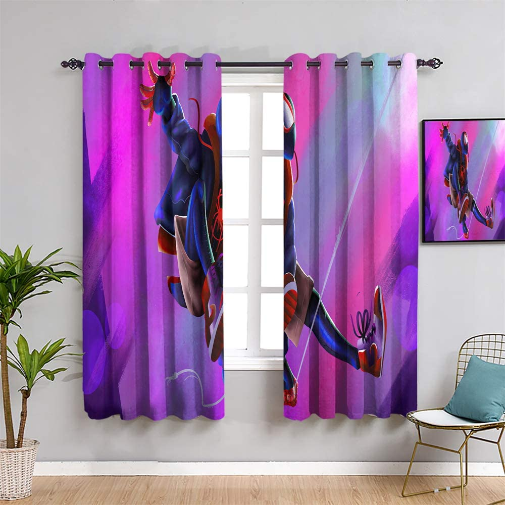 S-ANT Comics 激安セール Black Out Window Curtain Curtains 63 人気の製品 inch M Length