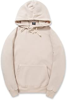 Simple Style Soft Cotton Plain Color Hoodie Long Sleeve Drawstring Hooded Sweatshirt