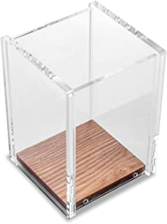 Nachen Acrylic Wood Desk Pen Pencil Holder Stand Multi Purpose Use Pencil Cup Pot Desk Organizer Modern Design