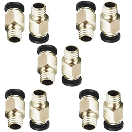 Color: PC8-01 Fevas 2PCS PC8-01 Pneumatic Connector for Air Pipe One-Touch Quick Coupling Brass Fitting Hose Tube Big Discount