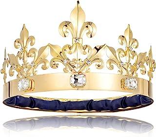 Adult Men King Crown Birthday Crown Prom King Crown Homecoming King Rhinestone Crown Gold