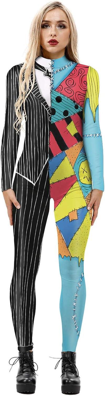 Honeystore Sales Max 40% OFF Women's Skeleton Bodysuit C Halloween Costume Bodycon