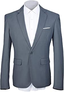 MAGE MALE Men's Solid Blazer Slim Fit Notch Lapel One Button Tuxedo Suit Separate Jacket Coats
