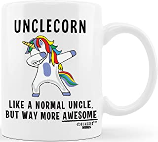 Unclecorn Funny Coffee Mug Father's Day Gift for Uncle Best Gift for Uncles Siblings Brothers from Niece Nephew Sister Aun...