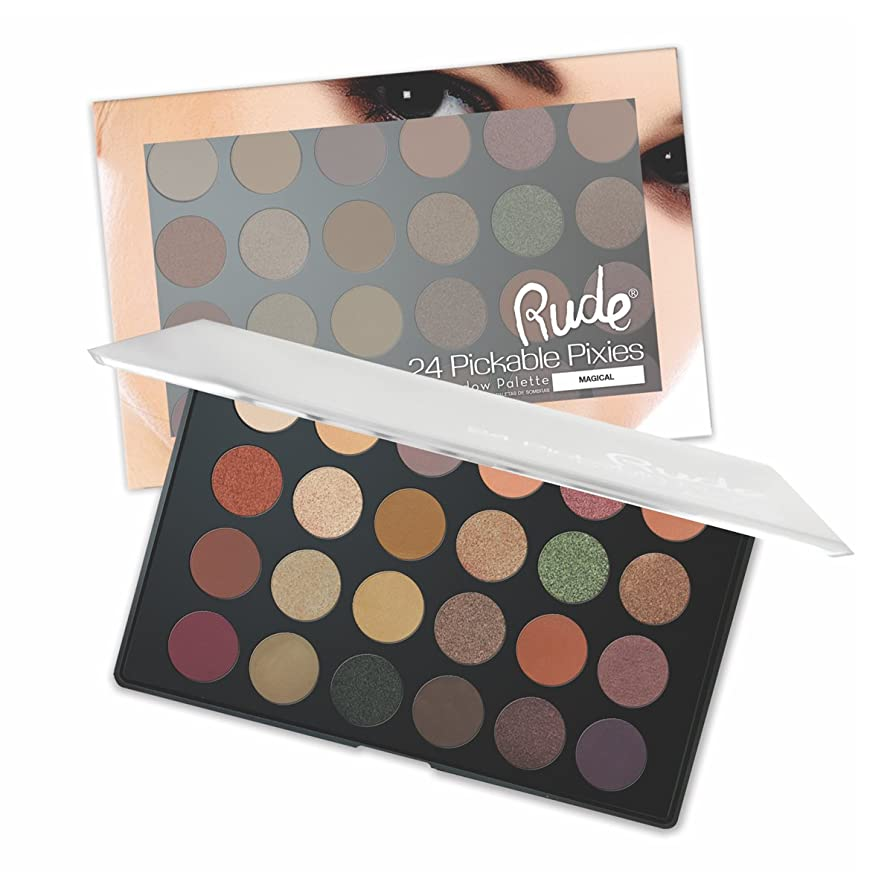 鋼触覚スラックRUDE Peekaboo Pixies 24 Eyeshadow Palette - Magical (並行輸入品)