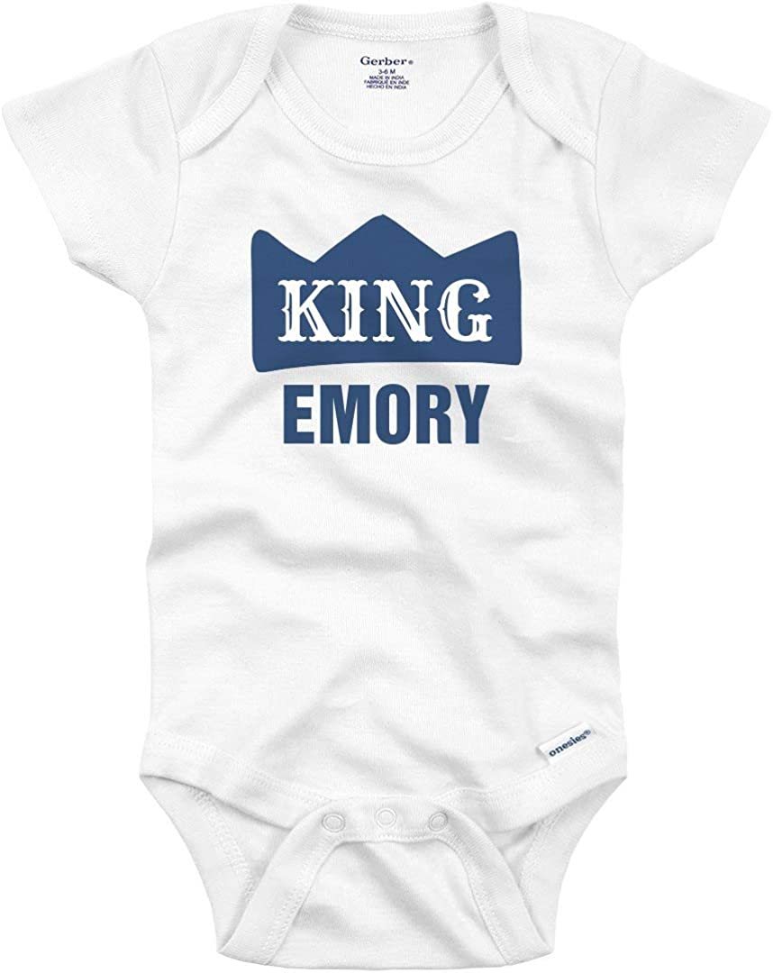 The King Baby Grow  Onesie  Unisex Baby Bodysuit  Baby Boy  Baby Girl  Baby Gift  Reverse Applique  Bright Baby clothes  AahKid