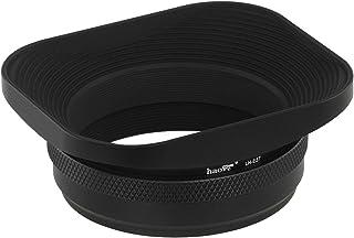 Haoge LH-E3Tメタルスクエアレンズフードシェード兼 49mmアダプターリングfor 富士フイルム Fujifilm Fuji Finepix X100 X100S X100T X70 X100Fカメラ