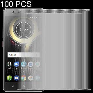 Dongdexiu Mobiltelefon skärmskydd 100 st 0,26 mm 9H 2.5D härdat glasfilm för Lenovo K8 Plus