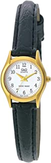 Q&Q Women's White Dial Leather Band Watch - Q551J104Y