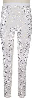 Fleece Lined Seamless Leggings Dancing Hearts Foil Print