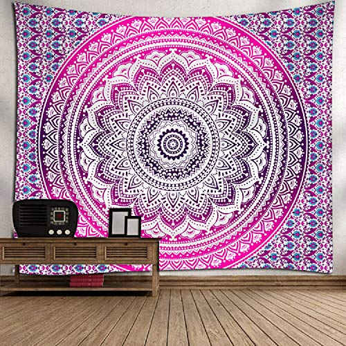 Bubunix Tapiz de Pared para Dormitorio, salón, Colgante, Tapices Indios, Tapices Bohemio, Mandala, Elefante Tapices Hippies Decorativos Alfombra de Pared 180 x 200 cm (Style 5)