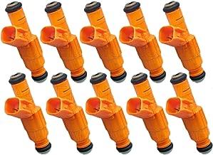 Re-Manufactured Genuine Bosch Set Of 10 Fuel Injectors For 1999 Ford F-250 F-350 Super Duty 6.8L V10 0280155857