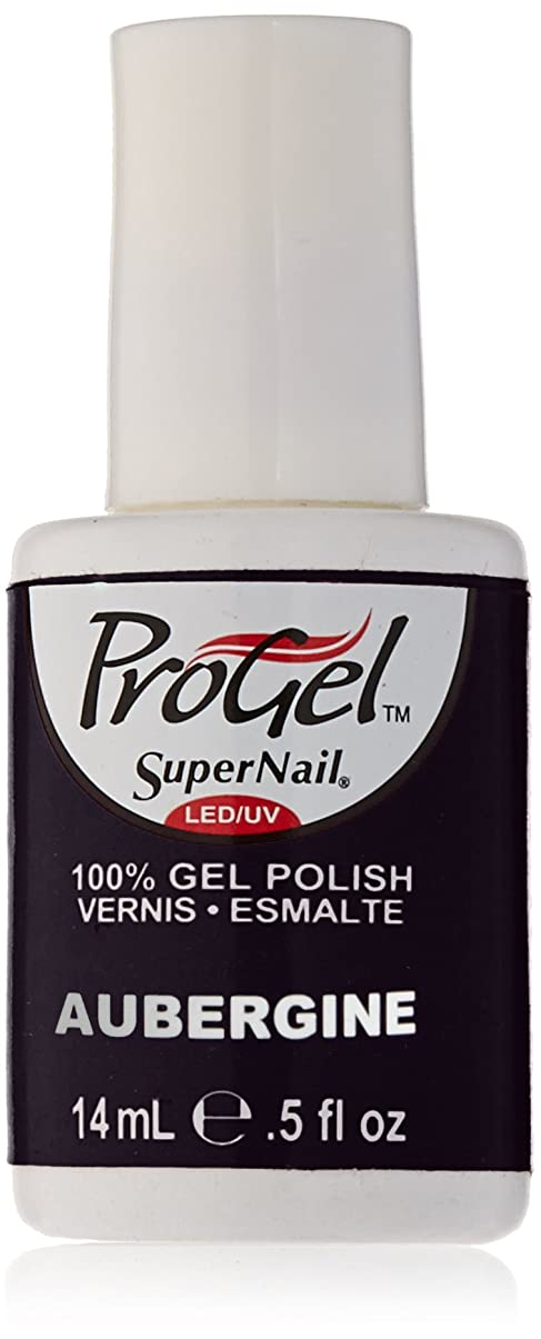 偽善チェスをする突き刺すSuperNail ProGel Gel Polish - Aubergine - 0.5oz/14ml
