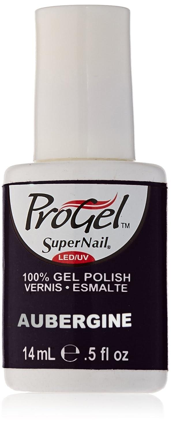モルヒネスロー作曲するSuperNail ProGel Gel Polish - Aubergine - 0.5oz/14ml