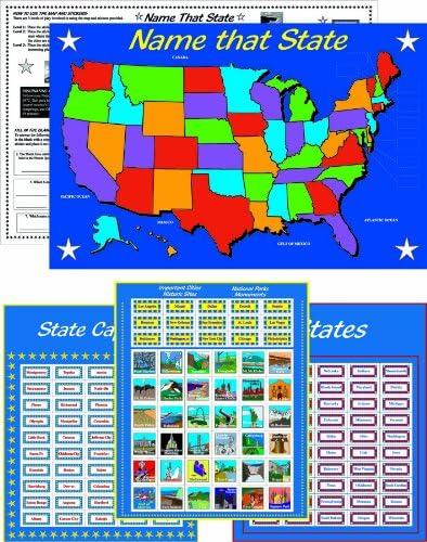2021 model Eureka Learning Playground States Capitals Activity K Sticker Luxury
