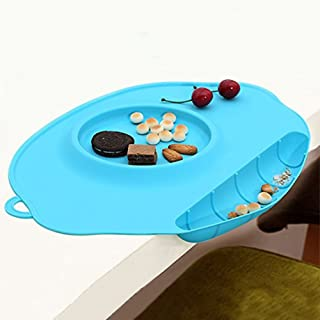 TLHOME Baby Placemat - Multifunction Security Food Baby Silicone Placement with Bowl and Groove for Children