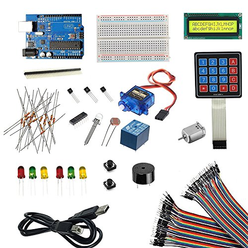 REES52 Lcd 1602 Arduino Uno Project Starter Kit for Arduino, Multicolor