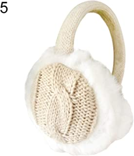 Fashion Women Girl Winter Warm Knit Earmuffs Ear Warmers Earmuffs Earflap Warmer Headband,Khaki