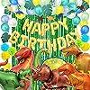 deerzon 誕生日 恐竜 バルーン 飾り付け セット 男の子 巨大 風船 バースデー ガーランド ペーパーフラワー (グリーン)