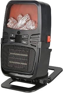 kashyk - Calefactor eléctrico de bajo Consumo, Mini Ventilador de calefacción, pequeño Aire Acondicionado, portátil, calefacción, Mini Calefactor multifunción, 2 Modos para Cuarto de baño, Cambiador