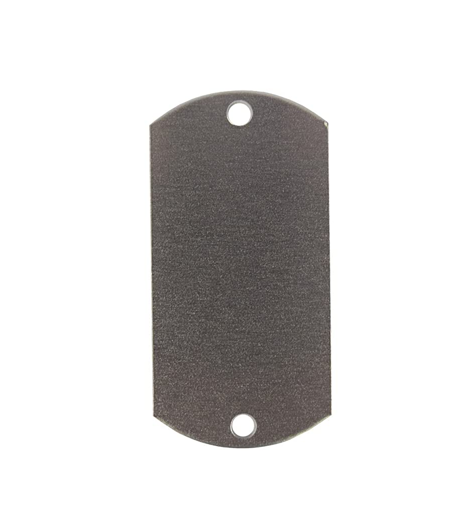 RMP Stamping Blanks, 1 Inch x 2 Inch Dog Tag with 2 Holes, Aluminum .032