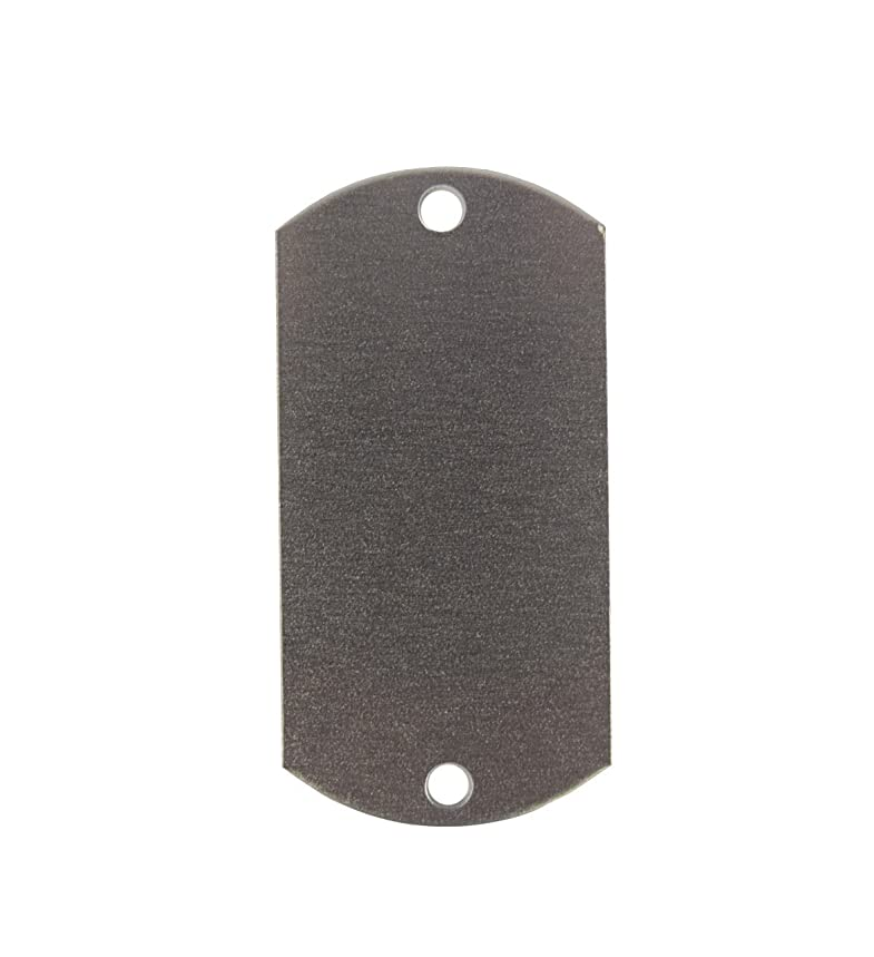 RMP Stamping Blanks, 1 X 2 Inch Dog Tag, w/Two Holes, Aluminum .063 Inch (14 Ga.) - 100 Pack