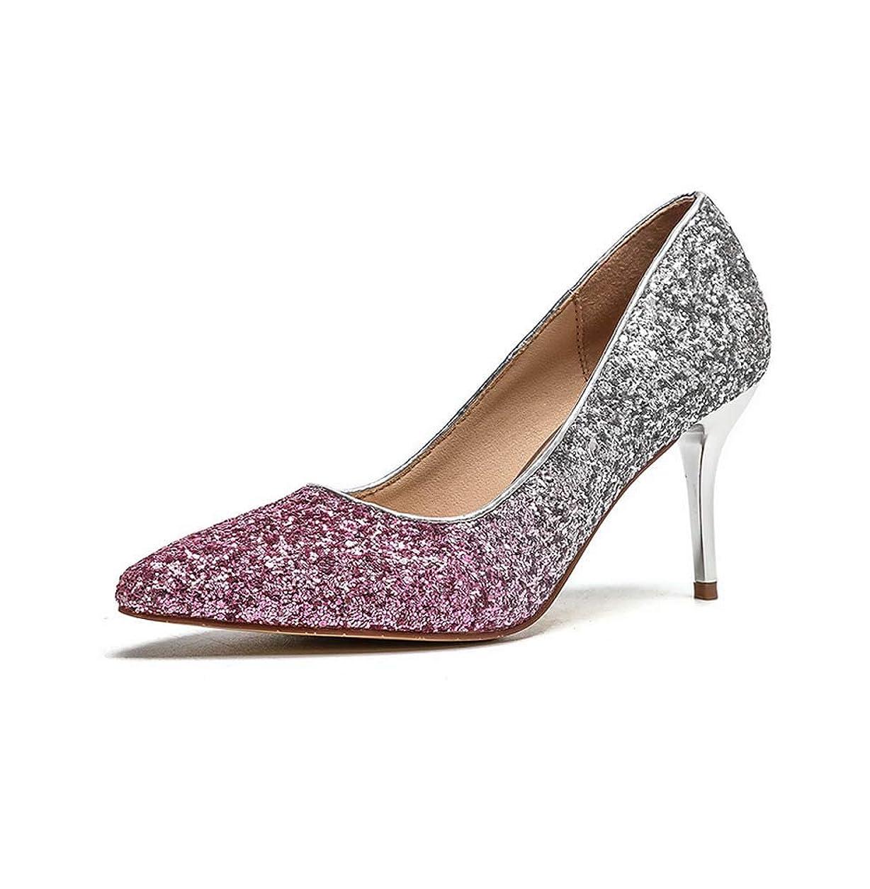 散文うなる変なレディース先のとがったつま先ハイヒールスリップオンスティレット裁判所の靴パーティーイブニングパンプス靴34-40EU