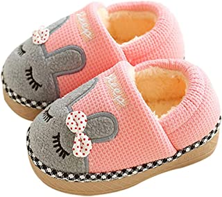 Cute Home Shoes, Girls Boys Fur Lined Indoor House Slipper Bunny Warm Winter Toddler Slippers