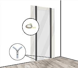 Pangolino Stofwerende deurfolie met ritssluiting, bouwdeur [PE-folie] 1,20 x 2,20 m incl. dubbelzijdig plakband - variant ...