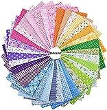 35 piezas de Tela de Retazos Cuadrados 100% Algodón con Estampado Floral tela de Scrapbooking Suministros de Costura tela para Patchwork, Manualidades Hechas a mano, Bricolaje.