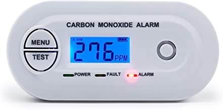 Detector de monóxido de carbono SCONDA EN 50291 certificado, detector de alarma de CO con pantalla LCD digital, alimentado por batería