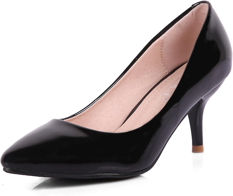 Women's shoes Patent Leather Microfibre Spring Summer Comfort Slingback Heels Stiletto Heel Platform Pointed Toe Rhinestone