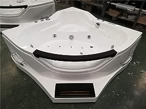 SDI Factory Direct 2 Person Corner Hydrotherapy Whirlpool Bathtub Spa Massage Therapy Hot Tub w/Heater, Bluetooth, LED Lights - SYM084A
