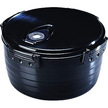 カクセー 炊飯器 電子レンジ調理器 3合炊き ブラック 約直径20×高さ12cm 紀州備長炭入り 満水容量約2.2L 吹きこぼれ防止