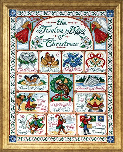 Design Works Crafts 5435 12 Days of Christmas Counted Cross Stitch Kit, 14 by 18'