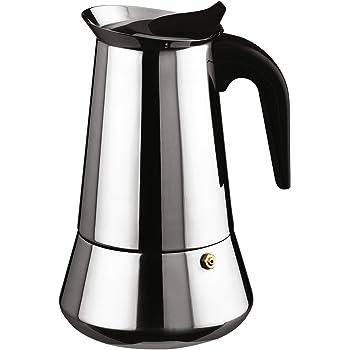 Ilsa Cafetera Expresso INOX Bonkaffe para 4 Tazas, Acero ...