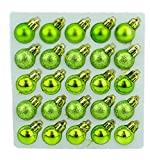 Pack de 25 Brillante, Mate y Brillo Mini árbol de Navidad de Las chucherías (Verde Lima)