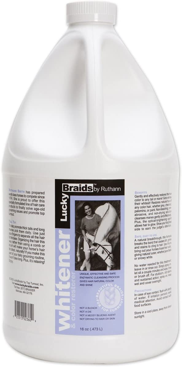 Lucky Braids Fashion for Top Turnout Whitener Wash Dry Refill Spray Spasm price