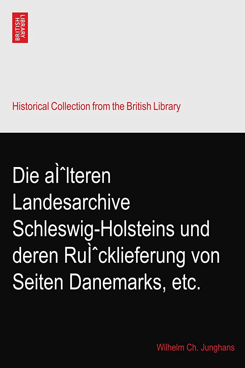 エール凝縮するおもちゃDie aì?lteren Landesarchive Schleswig-Holsteins und deren Ruì?cklieferung von Seiten Danemarks, etc.