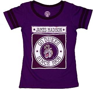 RussellApparel NCAA James Madison University Girls' Scoop Neck Tee