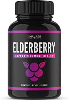 Havasu Nutrition Elderberry Capsules with Sambucus Nigra and Antioxidants for Added Benefits in Optimizing Immune Support ...