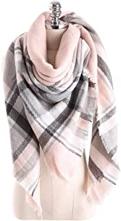 Fashion Scarf, Women Tartan Scarf Shawl Wrap Scarves for Beaches Walks Tours Cold Mornings (A Variety of Styles),L