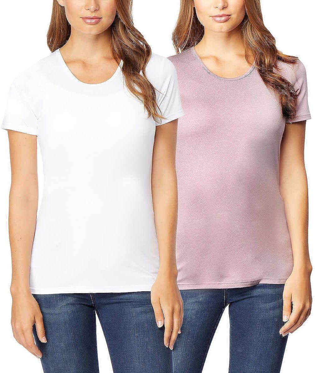 32 Ranking TOP1 DEGREES Women 2 Pack Cool Scoop Tee Shirt Atlanta Mall Wicking Neck