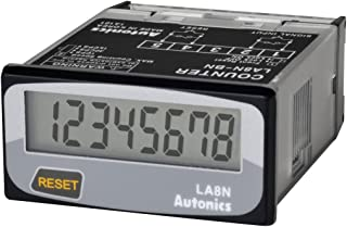 AUTONICS LA8N-BF Counter, Totalizer, LCD, 1/32 DIN, 8-Digit, 20 CPS, Selectable front reset key, Voltage Input
