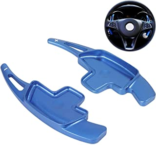 For Mercedes Benz Paddle Shifter Extensions, Partol Aluminum Metal Car Steering Wheel Shift Blade Paddle Shifter Fit For For Benz A B C CLA CLS E G GL GLA GLC GLE GLS Metris S SL SLC Class (Blue)