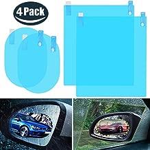 4pcs Car Rear View Mirror Film - Anti-Fog Anti-Glare Anti-Scratch Anti-Mis Rainproof Waterproof HD Mirror Window Film Clear Protective Sticker for Car Mirrors & Side Windows, Safe Driving